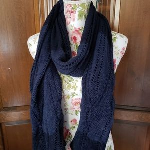 Blue and black scarf